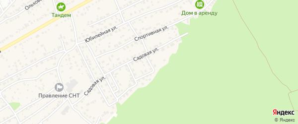 Садовый 1-й переулок на карте села Власихи с номерами домов