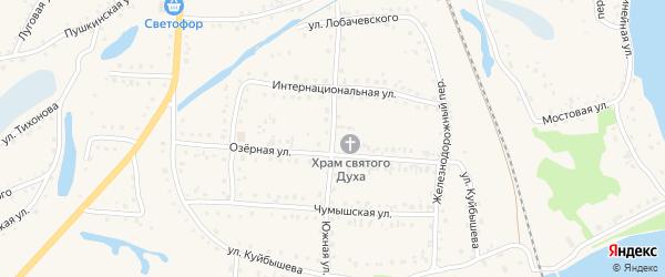 Южная улица на карте поселка Тальменки с номерами домов