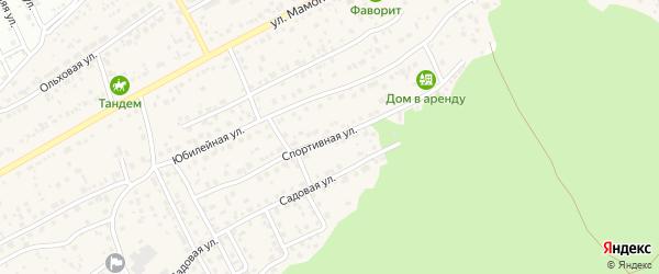 Спортивная улица на карте села Власихи с номерами домов
