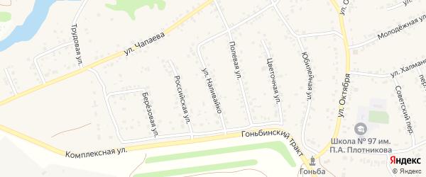 Улица Наливайко на карте села Гоньбы с номерами домов
