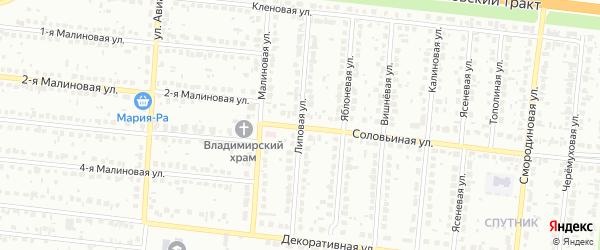 Липовая улица на карте Барнаула с номерами домов