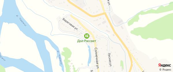 Береговая улица на карте Чарышского села с номерами домов
