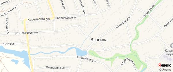Северный переулок на карте села Власихи с номерами домов