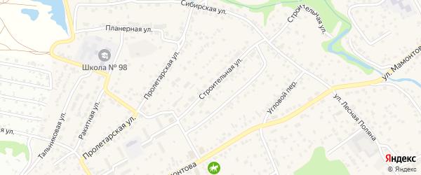 Строительная улица на карте села Власихи с номерами домов