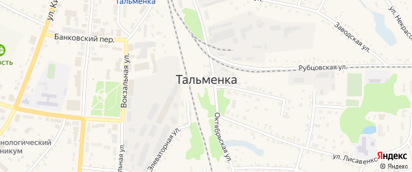 Микрорайон Родник на карте поселка Тальменки с номерами домов