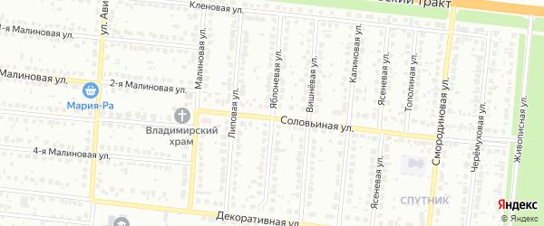 Яблоневая улица на карте Барнаула с номерами домов