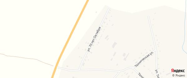 Улица 70 лет Октября на карте села Калистратихи с номерами домов