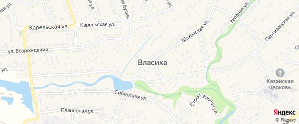 Шаховская улица на карте села Власихи с номерами домов