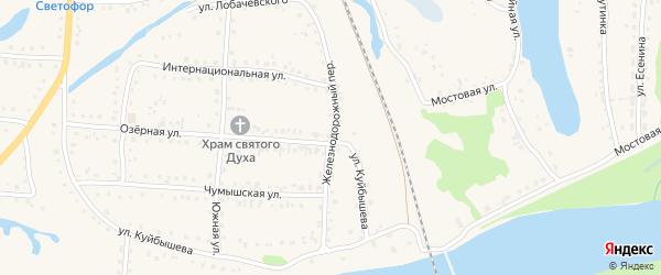 Железнодорожный переулок на карте поселка Тальменки с номерами домов