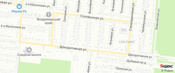 Вишневая улица на карте садового некоммерческого товарищества Автокомбината с номерами домов