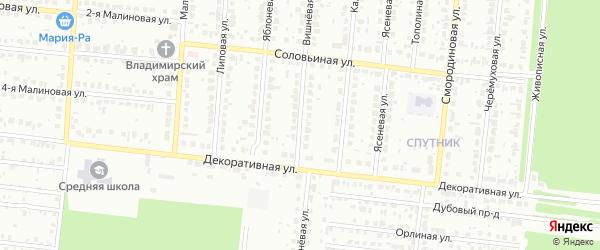 Вишневая улица на карте садового некоммерческого товарищества Сельского строителя с номерами домов
