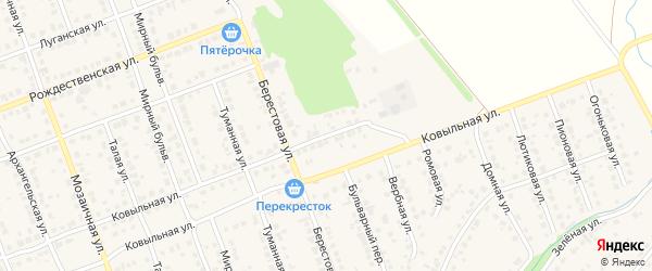 Улица Энергетиков на карте села Власихи с номерами домов