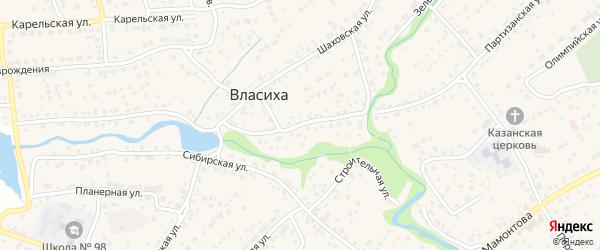 Набережная улица на карте села Власихи с номерами домов