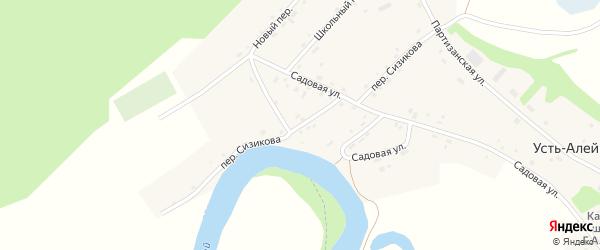 Переулок Сизикова на карте села Усть-Алейки с номерами домов