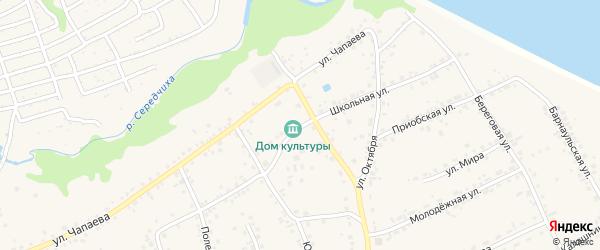 Школьная улица на карте села Гоньбы с номерами домов