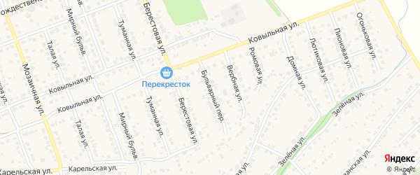 Бульварный переулок на карте села Власихи с номерами домов