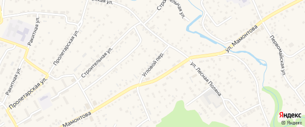 Угловой переулок на карте села Власихи с номерами домов