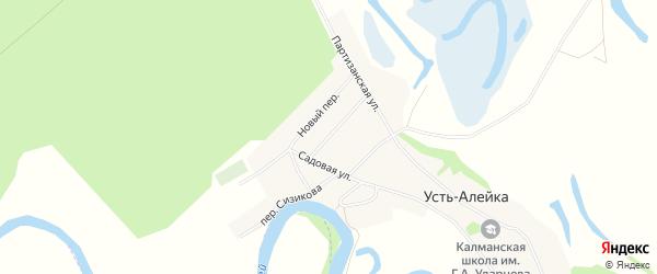 Карта села Усть-Алейки в Алтайском крае с улицами и номерами домов