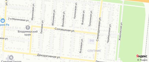 Соловьиная улица на карте Барнаула с номерами домов
