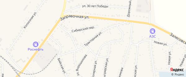 Тракторная улица на карте поселка Тальменки с номерами домов