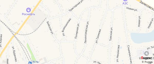 Полярная улица на карте поселка Тальменки с номерами домов