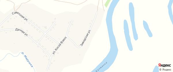 Заводская улица на карте села Калманки с номерами домов