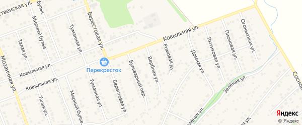 Вербная улица на карте села Власихи с номерами домов