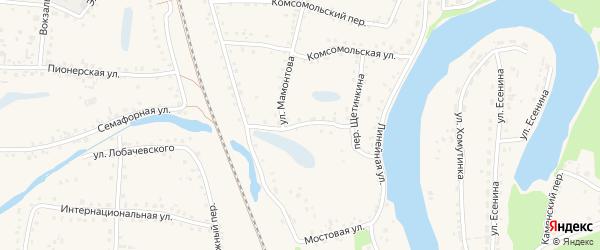 Болотный переулок на карте поселка Тальменки с номерами домов