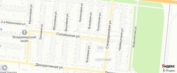 Ясеневая улица на карте Барнаула с номерами домов