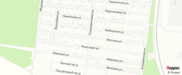Мятная улица на карте Барнаула с номерами домов