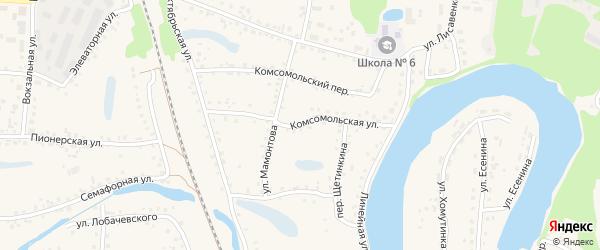 Комсомольская улица на карте поселка Тальменки с номерами домов