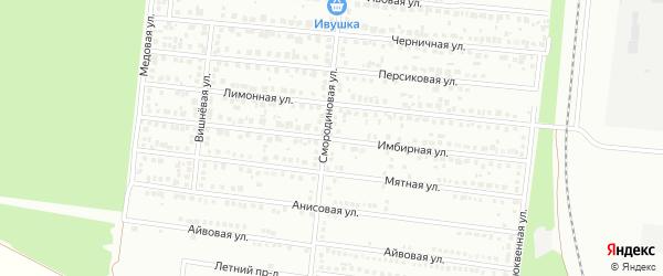 Имбирная улица на карте Барнаула с номерами домов