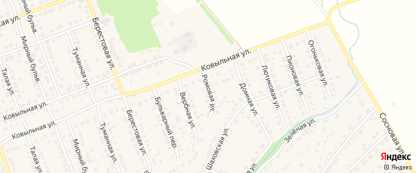Ромовая улица на карте села Власихи с номерами домов
