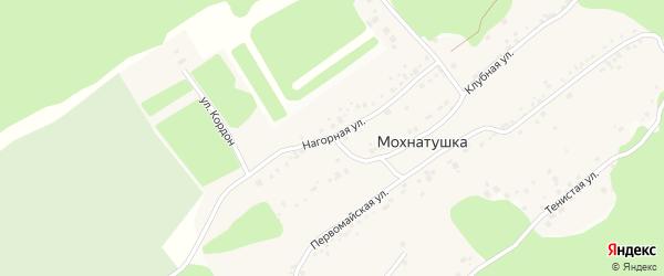 Нагорная улица на карте поселка Мохнатушки с номерами домов