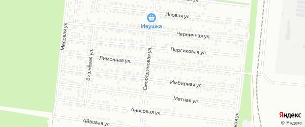 Лимонная улица на карте Барнаула с номерами домов