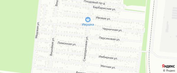 Персиковая улица на карте Барнаула с номерами домов