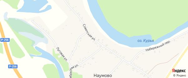 Советская улица на карте села Наумово с номерами домов