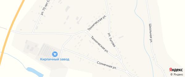 Техническая улица на карте села Калистратихи с номерами домов