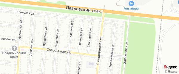 Тополиная улица на карте Барнаула с номерами домов