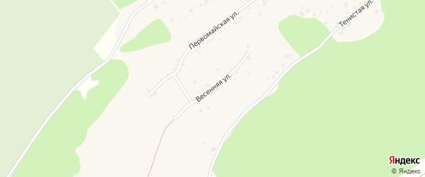 Весенняя улица на карте поселка Мохнатушки с номерами домов