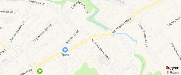 Сибирская улица на карте села Власихи с номерами домов