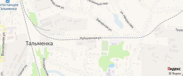 Рубцовская улица на карте поселка Тальменки с номерами домов