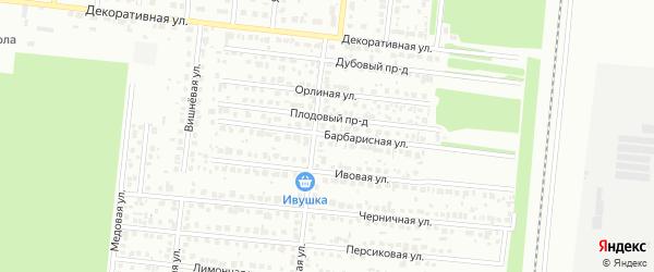 Барбарисная улица на карте Барнаула с номерами домов