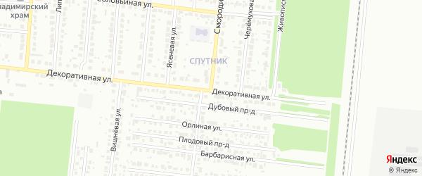 Смородиновая улица на карте садового некоммерческого товарищества N 14 с номерами домов