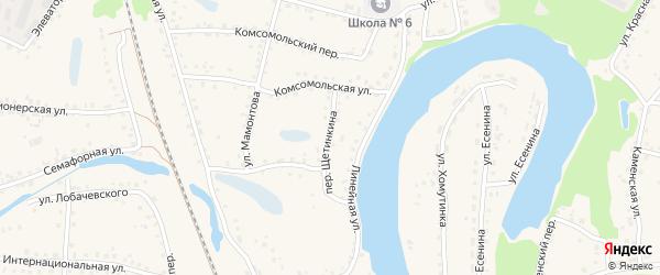 Переулок Щетинкина на карте поселка Тальменки с номерами домов
