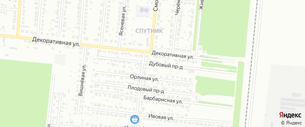 Дубовый проезд на карте Барнаула с номерами домов