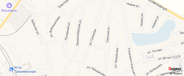 Улица Громова на карте поселка Тальменки с номерами домов
