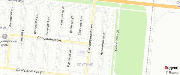 Смородиновая улица на карте Барнаула с номерами домов