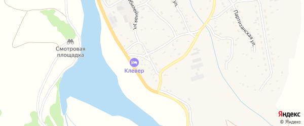 Юбилейная улица на карте села Красного Партизана с номерами домов