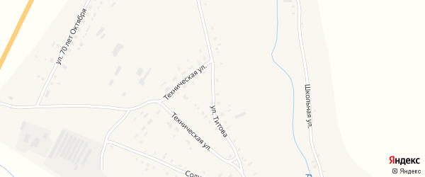 Улица Титова на карте села Калистратихи с номерами домов